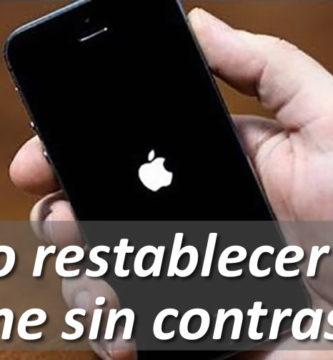 Restablecer un iPhone sin contraseña